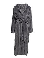 Cornflocker fleece robe long - DARK GREY