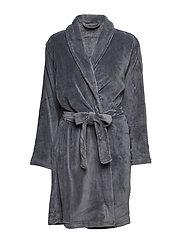 Cornflocker fleece robe short - DARK GREY