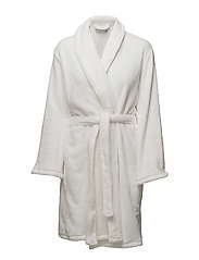 Cornflocker fleece robe short - IVORY