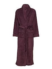 Nira fleece robe long - PLUM