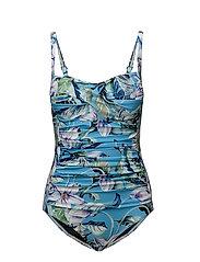Audrey swimsuit - BLUE FLOWER PRINT
