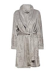 Reba fleece robe short - GREY
