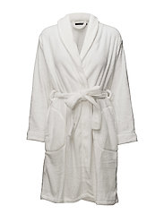 Reba fleece robe short - IVORY