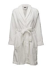 Reba fleece robe short - IVORY
