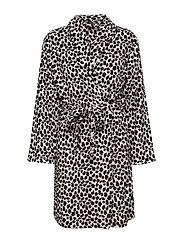 Rebel fleece robe short - ANIMAL PRINT