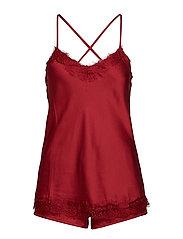 Smilla top +  shorts - DARK RED