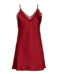 Smilla strap dress - DARK RED