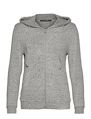 Cozy hoodie - LIGHT GREY MELANGE W TAPE
