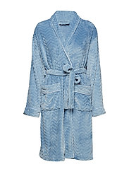 Filipa fleece robe short - LIGHT BLUE