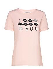 Kiss t-shirt - ROSE
