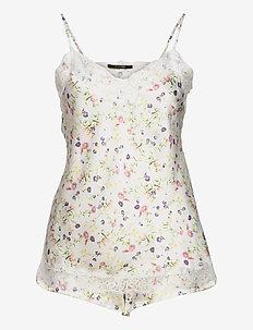 Smilla top + shorts AOP - pyjama''s - ivory w print