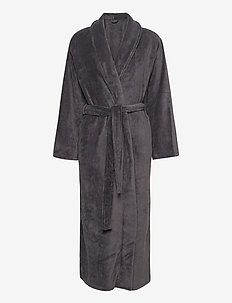 Cornflocker fleece robe long - bedrok - obesidian