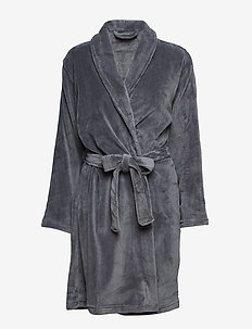 Cornflocker fleece robe short - DARK GREY