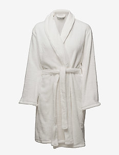 Cornflocker fleece robe short - IVORY