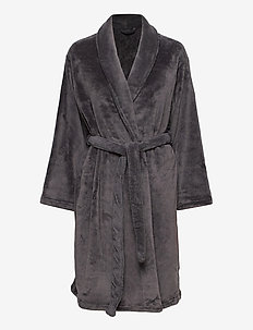 Cornflocker fleece robe short - bedrok - obesidian