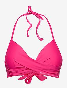 Aaliyah top - bikini tops - power pink