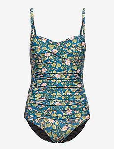 Audrey swimsuit - badpakken - blue and green