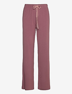Softness wide pant - wide leg trousers - rose taupe