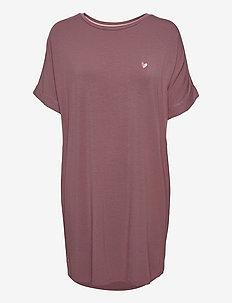 Softness big shirt - midi dresses - rose taupe