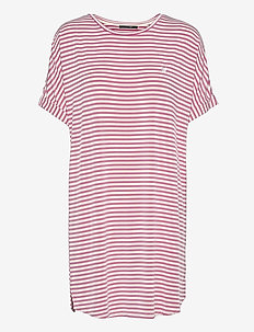 Softness stripe big shirt - tshirt jurken - rapture rose
