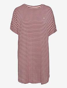 Softness stripe big shirt - tshirt jurken - rose taupe