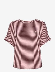 Softness stripe SS t-shirt - t-shirts - rose taupe