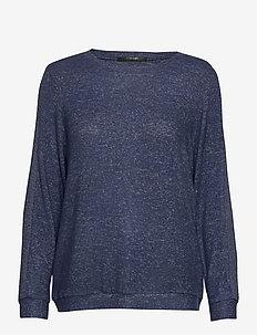 Cozy shirt LS - tops - dark blue melange