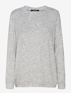 Cozy shirt LS - LIGHT GREY MELANGE