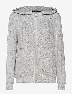 Cozy hoodie - tops - light grey melange