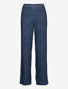 Cozy wide pant - bottoms - dark blue melange