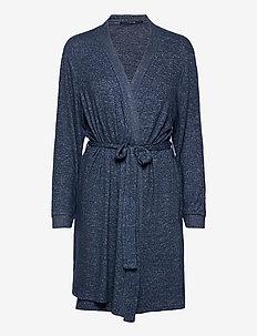 Cozy robe - bathrobes - dark blue melange
