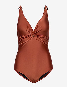 Lucca swimsuit - TERRACOTTA
