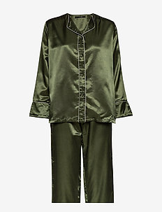 Sateen pyjamas - RIFFLE GREEN