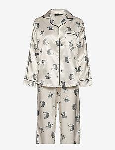 Leo sateen pyjamas - IVORY