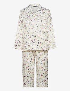 Leo sateen pyjamas - pyjama''s - ivory w print