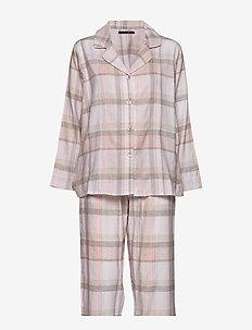 Check flannel pyjamas - GREY/SOFT ROSE