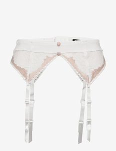 Gold suspender belt - bodies & slips - ivory / rose