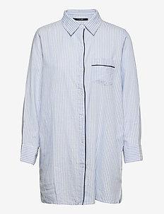 Lolly nightshirt - nachtjurken - blue/ivory stripes