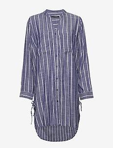 Verona beach shirt - BLUE/WHITE