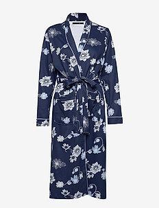 Fiona robe AOP cotton - BLUE FLOWER PRINT