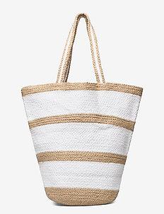 Summer bag - bucket-vesker - white