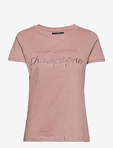 Isabella SS t-shirt - t-shirts - misty rose