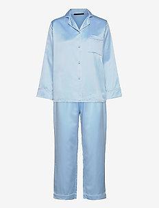 Leo sateen pyjamas - pyjama''s - chambray blue