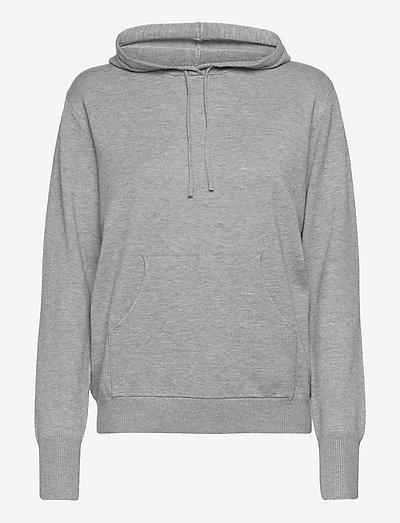 Lazy hoodie - hættetrøjer - grey melange