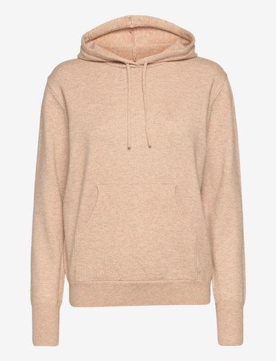 Lazy hoodie - hættetrøjer - nougat melange