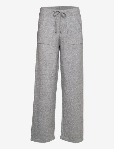 Lazy pant wide - underdele - grey melange