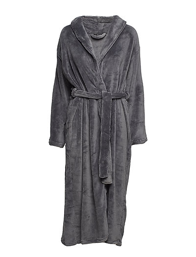 Cornflocker fleece robe long - DARK GREY