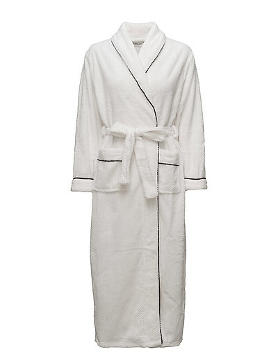 Nira fleece robe long - IVORY
