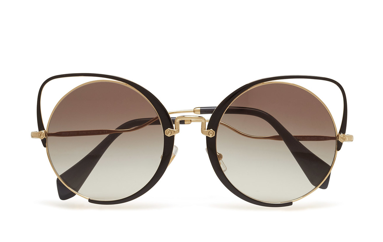 f3221d80f2e Women s Sunglasses (Pale Gold black) (£274) - Miu Miu Sunglasses ...