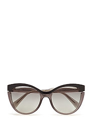 WOMEN'S SUNGLASSES - BLACK/TRANSPARENT GREY